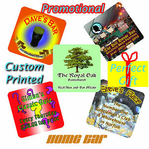 Personalised Custom Printed Beer Mats / coasters 24 per pack - Double sided!