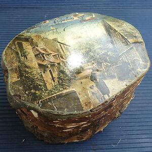 bo te bois tronc d 39 arbre artisanat fait main vintage cabourg 13x10 cm capitonn ebay. Black Bedroom Furniture Sets. Home Design Ideas
