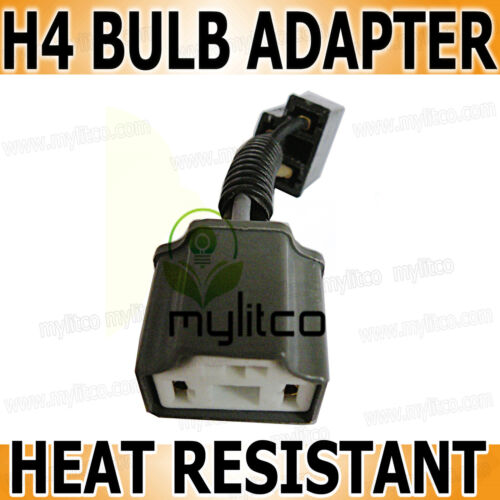 H4 [472] 3 Pin HEAT RESISTANT CERAMIC HOLDER Headlight Bulb Connector Adaptor x1