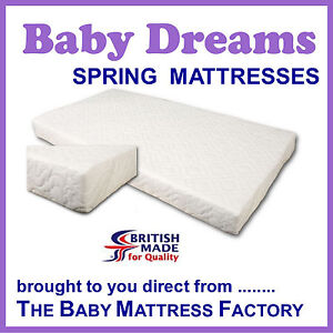 COT BED MATTRESS 140 x 69 cm with steel springs - brand new - super quality  BD