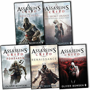 Oliver Bowden Assassins Creed 5 Books Collection Set Brotherhood Forsaken New