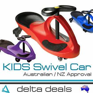 NEW KIDS RIDE ON TOY PLASMA SWIVEL CAR WIGGLE SWING SCOOTER TEKNO