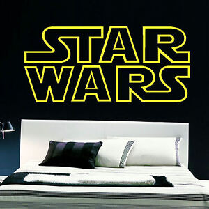 G ant star wars starwars logo chambre mur pochoir sticker artistique ebay - Pochoir star wars ...