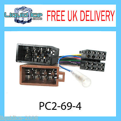 AUTOLEADS PC2-69-4 VOLKSWAGEN POLO 1999 - 2005 ISO HARNESS ADAPTOR WIRING LEAD