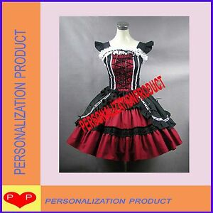 Victorian-Gothic-Lolita-Cotton-Burgundy-Ball-Gown-Cosplay-Dress