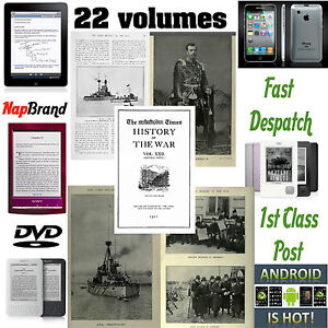 The Times History of War 22  volumes PDF WW1 over 10,000 pages, 1000's pics