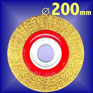 Silverline-200mm-Bench-Grinder-Wire-Wheel-8-grinding-rust-cleaning-polishing