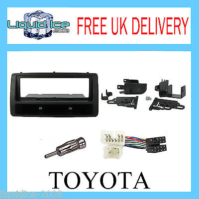 CT24TY10 TOYOTA COROLLA 2003 - 2008 BLACK SINGLE DIN FASCIA ADAPTOR FITTING KIT