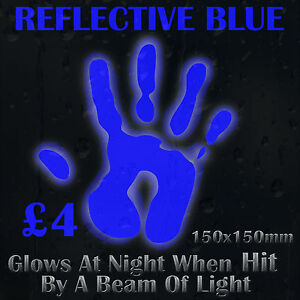 Blue-Reflective-Vinyl-Sticker-Glows-At-Night-When-Hit-By-a-Beam-of-Light