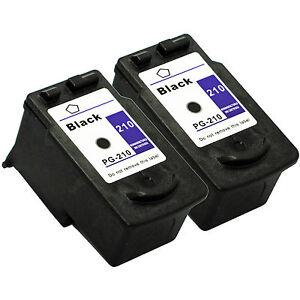 2-Pk-Canon-PG-210-Black-Ink-Cartridge-For-PIXMA-MP495-MX320-MX340-Printer