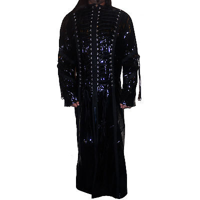 Phaze Clothing Attitude Full Length Laced Up Canvas Jacket Coat