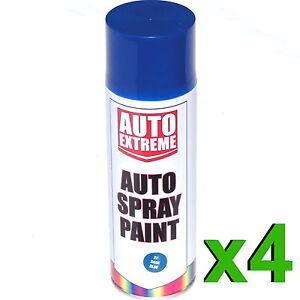 4-x-500ml-Dark-Blue-Gloss-Spray-Paint-Aerosol-Can-Auto-Extreme-Car-Van-Bike