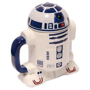 Star Wars R2 D2 Ceramic Mug with Removeable Lid in Gift Box