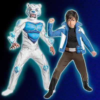 Child Anime TV Show Beast Battle Game Monsuno Chase Suno Lock Polar Bear Costume