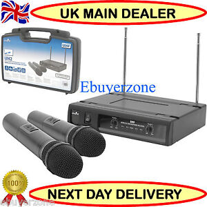 CHORD MICROPHONE DUAL UHF WIRELESS HANDHELD SYSTEM CRYSTAL CLEAR UHF SOUND