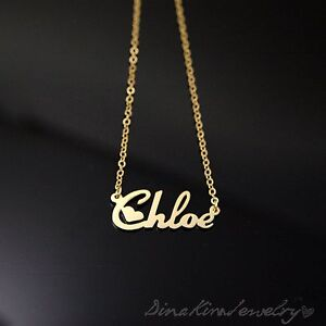 any personalized jewelry 18k gold plated brass name necklace