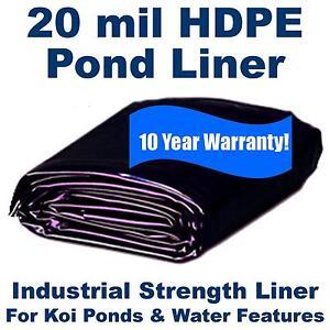 200 x 250 20 mil hdpe pond liner for koi ponds lakes for Koi pool liners