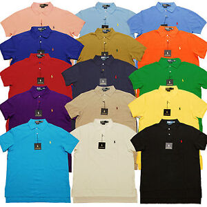 Ralph-Lauren-Polo-Mesh-Custom-Fit-Mens-Pique-Pony-Logo-T-Shirt-Men-Tee-Shirts