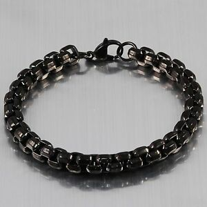 8mm New 316L Stainless Steel Men's Dome Box Heavy Bracelet Link 8