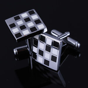 Several Style High Quality Mens Steel Rectange Wedding Party Square Cufflinks