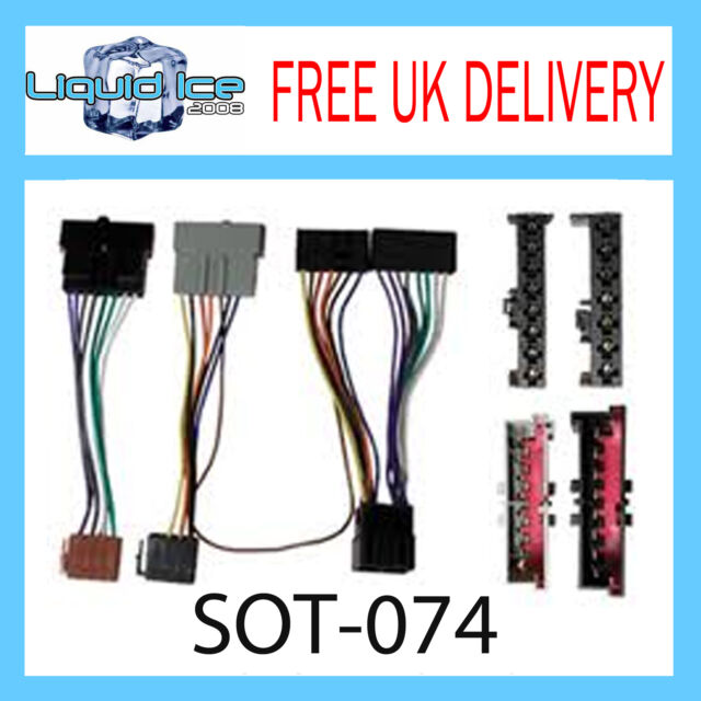 SOT-074 FORD FIESTA 1995 - 2002 ISO PARROT HARNESS ADAPTOR WIRING LOOM LEAD