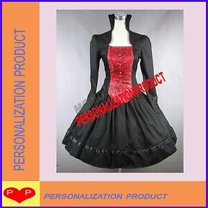 Victorian-Gothic-Lolita-Brocaded-Cotton-Cosplay-Dress