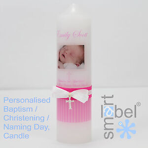 Personalised Christening, Baptism, Naming Day Candle 3