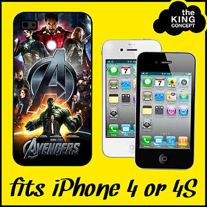 Avengers-Assemble-iPhone-4-or-4S-Case-Cover-The-Movie-Film-Hulk-Iron-Man-Apple