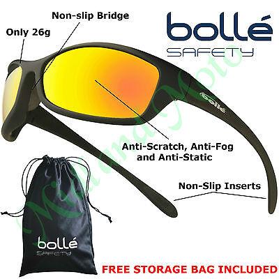 Bolle Spider Flash  Mirror Lens Safety Sunglasses,,  EN166 -1FT Safety Glasses