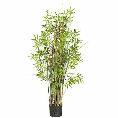 Decorative Natural Looking Artificial Asian 5' Bamboo Grass Silk Faux Plants