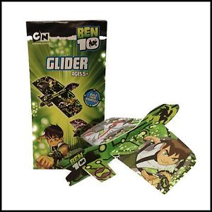 BEN 10 GLIDER PLANE TOY FUN PARTY BAG FILLER ACTIVITY BUILD AND FLY GIFT TOY