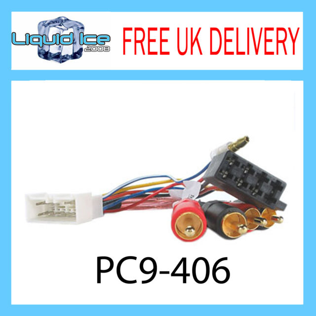 PC9-406 TOYOTA MR2 IMPORT AMPLIFIED RCA TO ISO LEAD 1985 to 1994 HARNESS ADAPTOR