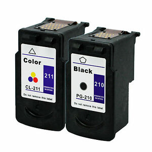 2-Pk-Canon-PG-210-CL-211-Ink-Cartridge-For-PIXMA-MP495-MX320-MX340-Printer