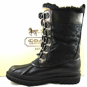 coach signature black winter boots 5 to 11