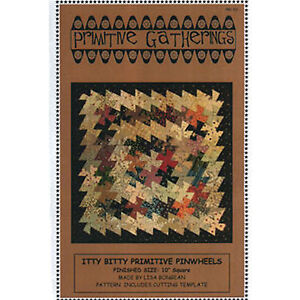 Primitive-Gatherings-ITTY-BITTY-PRIMITIVE-PINWHEELS-Quilt-Pattern-Twister-Tool
