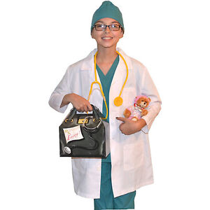 Kids Doctor Costume With Real Scrubs And Lab Coat