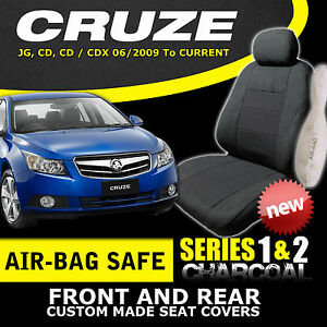 HOLDEN-CRUZE-CUSTOM-MADE-SEAT-COVERS-F-R-06-2009-ON-CHARCOAL-EXPRESS-DELIVERY