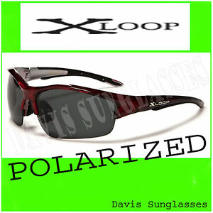 Mens-X-Loop-Polarized-Sunglasses-XL48104PZ-Davis-B2-fishing-golf-shades-red