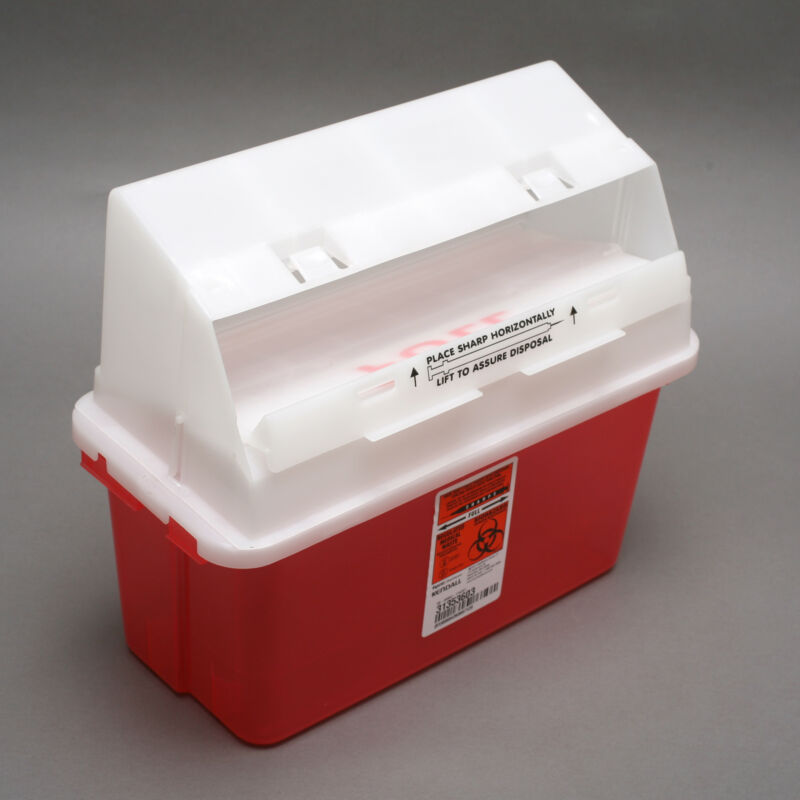 Tyco Kendall 31353603 5qt. Gatoguard Sharps Container