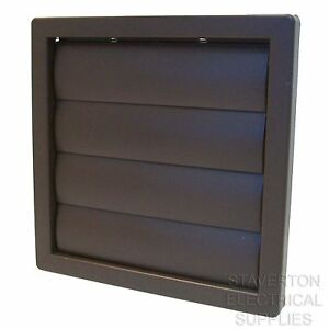 BROWN-SQUARE-160MM-x-160MM-5-120MM-GRAVITY-FLAP-GRILL-DUCTING-AIR-VENT-COVER