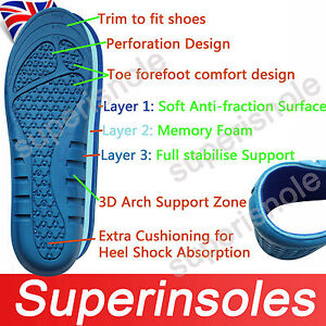 New-Memory-Foam-Full-Foot-Cushioning-Arch-Support-Orthotic-Pain-Relief-Insoles