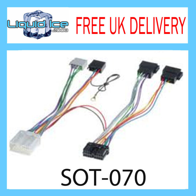 SOT-070 MITSUBISHI COLT 1996 - 2008 ISO PARROT HARNESS ADAPTOR WIRING LEAD