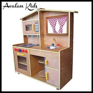 Wooden Kids Kitchen Pretend Play Toddlers Kitchen TOY