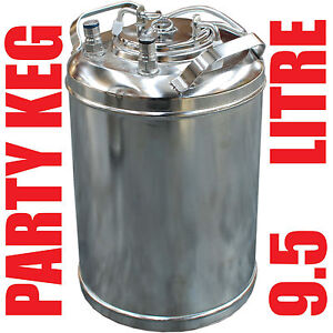 9Litre 10L 10Litre Ball Lock Cornelius Home Brew Beer Party Mini Keg