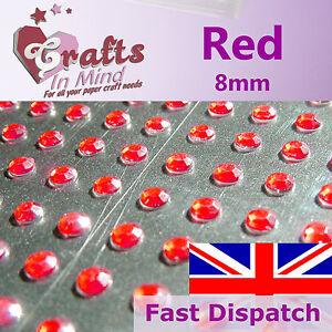 56-x-8mm-Red-Quality-Rhinestone-Diamante-Gems-Diamonte-4-Greeting-Card-Crafts