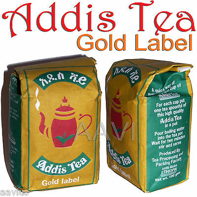 Addis Shay Gold Label Addis Tea Ethiopian Organic Blend Loose Tea 100g