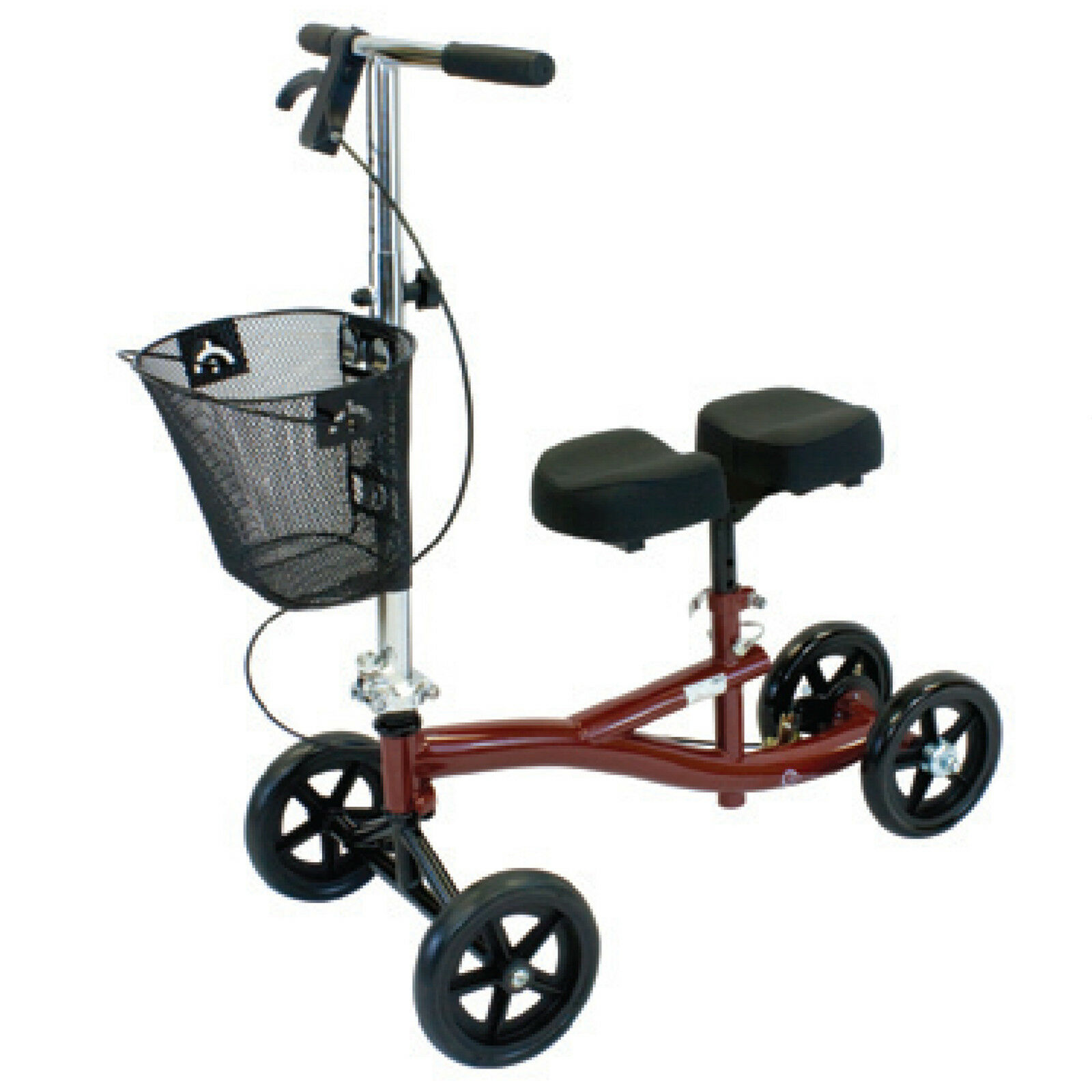 Steerable Turning Knee Walker Scooter Rolling Cart Crutch Replacement Basket