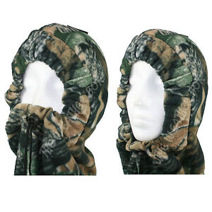 Mens Thermal Fleece Snood Ladies Winter Hood Ski Hat Neckwarmer Scarf Balaclava