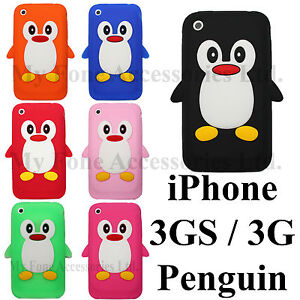 3GS-New-Cute-Penguin-For-Apple-iPhone-3GS-3G-3-Soft-Silicone-Back-Case-Cover