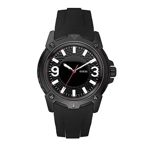 Guess-Verve-Gents-Sports-Watch-50m-IP-Black-Dial-Black-Rubber-Strap-W10251G1